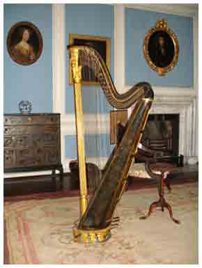 The Harp at Lacock which Amélina refers to and often plays