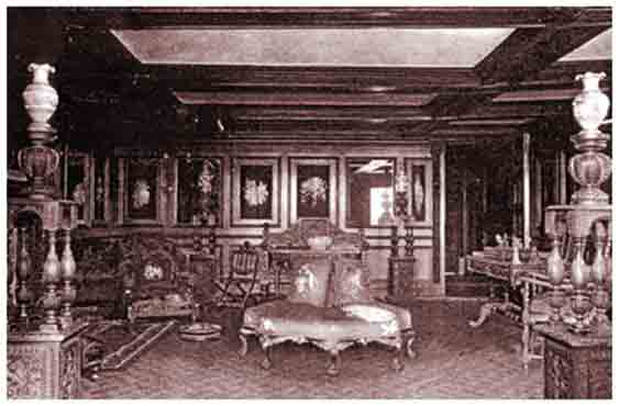 The drawing room at Hopwood Hall