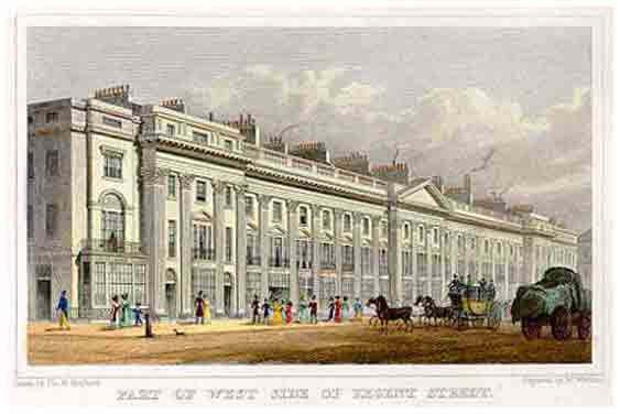 Regent Street in 1829 (this building no longer stands)