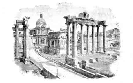 Rome with the Church of St Peter