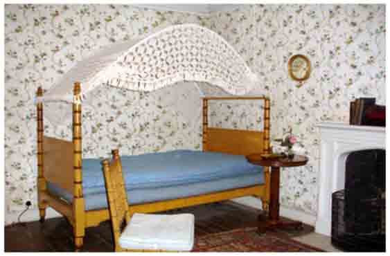 This East bedroom at Lacock was probably Amélina's